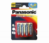 PANASONIC 4 x LR03 Alcaline Xtreme Power AAA Batteries + 2 Free